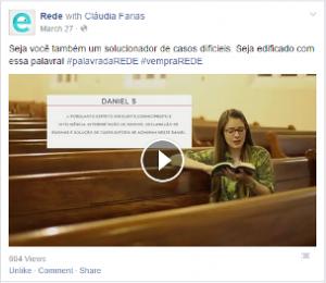 Exemplo Mídias Sociais REDE Juiz de Fora