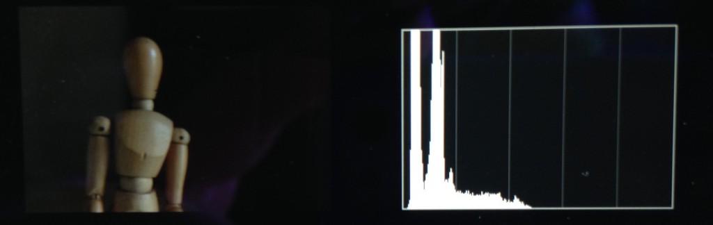 Subexposta – histograma tende para a esquerda
