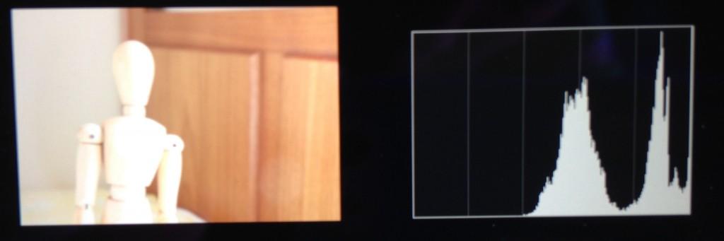 Superexposta – histograma tende para a direita