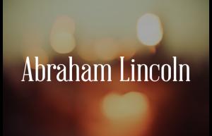 Fonte Abraham Llincoln