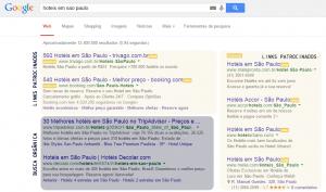 Estrutura da página de busca do Google