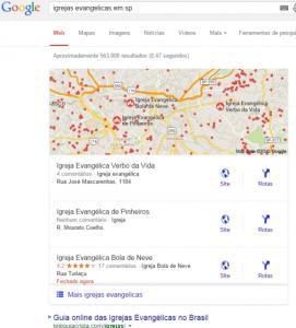 Sua igreja no Google Maps