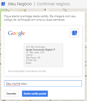 Cadastrando sua igreja no Google Local Search