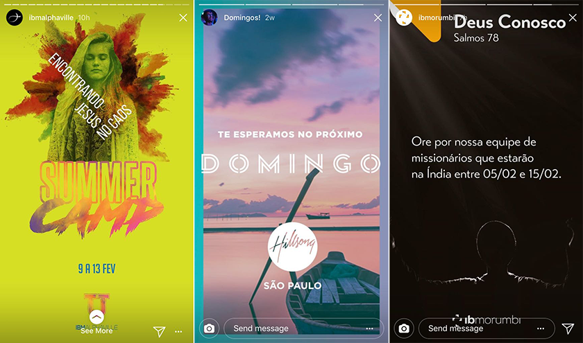 Instagram Stories: Agenda Semanal e Avisos